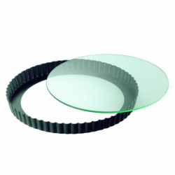 Forma do tarty ze szklanym dnem Crystal Baking 28 cm - KAISER