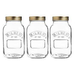 Zestaw słoików 3 x 1 l, Preserve Jars - KILNER