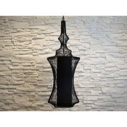 Duża lampa wisząca TIBET czarna 32,5x95cm [AZ02463]