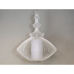 Duża lampa wisząca OPIUM biała 60x70cm [AZ02462]