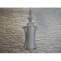 Duża lampa wisząca TIBET szara 32,5x95cm [AZ02464]