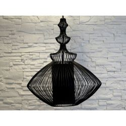 Duża lampa wisząca OPIUM czarna 60x70cm [AZ02461]