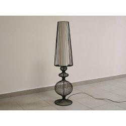 Lampa stojąca NOSTALGIA beż-czarna 24x100cm [AZ02476]