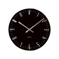 Zegar stołowo-ścienny Slim Index Black, 17 cm - KARLSSON