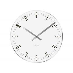 Zegar stołowo-ścienny Slim Index white b