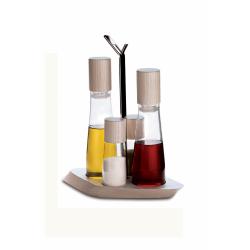 Zestaw 4-częściowy na olej, ocet, sól i pieprz Trattoria - BUGATTI