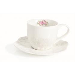 Filiżanka porcelanowa 225 ml z talerzykiem, 1255 DERO - NUOVA R2S