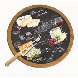 Deska obrotowa do serów z nożem 888 WOCH - Nuova R2S