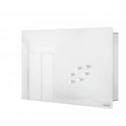 Magnetyczna skrzynka na klucze Velio, białe szkło, 20 x 30 cm - BLOMUS