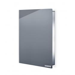 Magnetyczna skrzynka na klucze Velio, szare szkło, 40 x 30 cm - BLOMUS