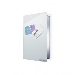 Magnetyczna skrzynka na klucze Velio, białe szkło, 30 x 20 cm - BLOMUS
