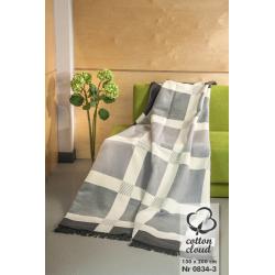 Koc bawełniano-akrylowy (0834-3), 150 x 200 cm