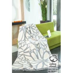 Koc bawełniano-akrylowy (0835-1), 150 x 200 cm