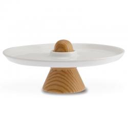 Mała patera do serwowania ciast Sombrero 24 cm, bez opakowania - LEGNOART