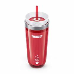 Kubek termiczny ICED COFFEE MAKER - czerwony - Zoku
