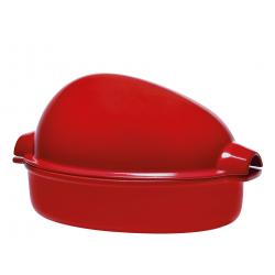 Naczynie do pieczenia drobiu - czerwone - Emile Henry