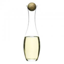 Oval Oak — karafka na wino z dębowym korkiem, poj. 1 L - SAGAFORM