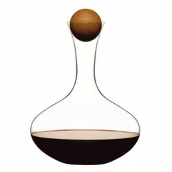 Oval Oak — karafka do wina z dębowym korkiem, 2 L - SAGAFORM