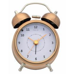 Budzik Wake Up (9 cm) miedziany - NEXTIME