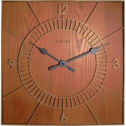 Zegar ścienny Wood Square, 50 cm - NEXTIME