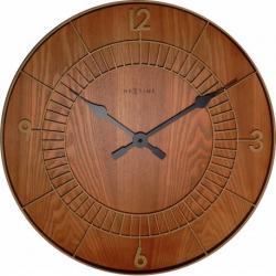 Zegar ścienny Wood Round, 50 cm - NEXTIME