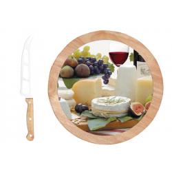 Deska do serów z nożem, obrotowa 527 ENC - NUOVA R2S