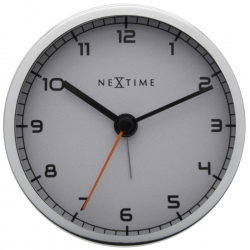 Zegar stojący Company Alarm biały - NEXTIME