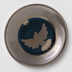 Talerz naścienny Gołąb - Porcelana KRISTOFF