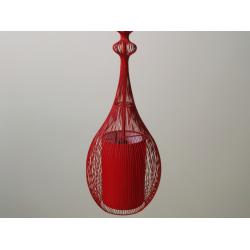 Lampa wisząca EMPEROR czerwona 20x92cm, AZ01592 - SCHEMA