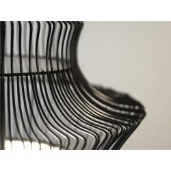 Lampa wisząca TIBET czarna 23x59cm, AZ01599 - SCHEMA