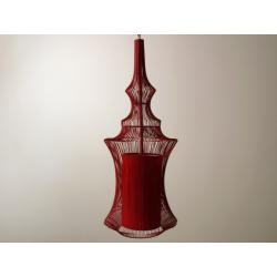 Lampa wisząca TIBET 23x59cm, czerwona (AZ01600) - SCHEMA