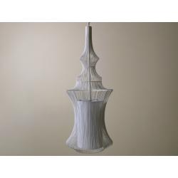 Lampa wisząca TIBET 23x59cm, biała (AZ01601) - SCHEMA
