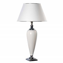 Lampa stołowa TRIANON biała 40x73cm, 4339 - ENVY