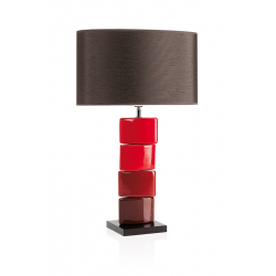Lampa stołowa CHANELA czerwona, 4317 - ENVY