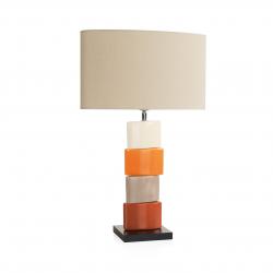 Lampa stołowa CHANELA pomarańczowa, 4698 - ENVY