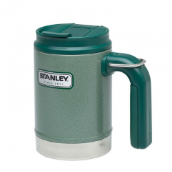 Kempingowy kubek termiczny Classic, zielony, stalowy, 0,47 l - STANLEY