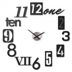Zegar ścienny NUMBRA, czarny - UMBRA