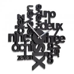 Zegar ścienny Lingua, czarny - UMBRA