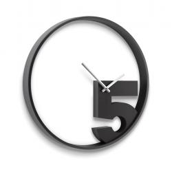 Zegar ścienny TAKE 5, czarny - UMBRA