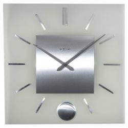 Zegar ścienny Stripe Pendulum Square, 40 cm - NEXTIME
