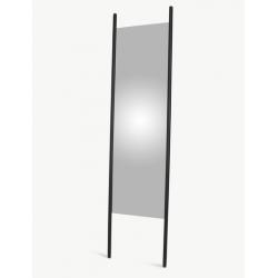 Duże lustro Georg 56 x 190 cm, dąb, czarne - SKAGERAK