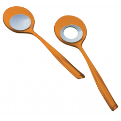 Łyżki do sałaty Glamour, pomarańczowe - BUGATTI