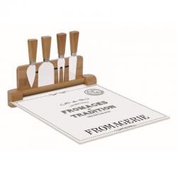 Deska szklana do serów z nożami 4 szt. 848 DEGO - Nuova R2S