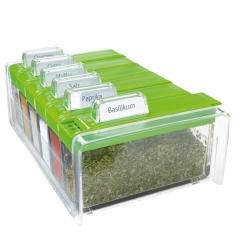 SPICE BOX - pojemnik na przyprawy, zielony - 6 przypraw GRATIS! EMSA