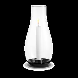 Latarnia na świecę Design With Light z czarną podstawą, 27,1 cm - HOLMEGAARD