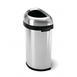 Kosz na śmieci 60L BULLET OPEN półokrągły- stal - Simplehuman