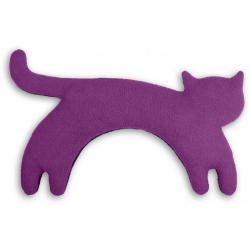 Poduszka termiczna z wkładem z pszenicy Purple, stojący kotek - LESCHI