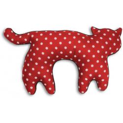 Poduszka na szyję kot Feline, Polka Dot Red - LESCHI