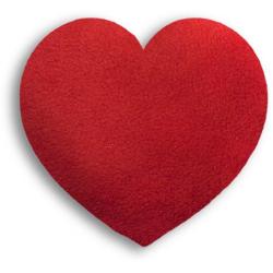 Poduszka termiczna z wkładem z pszenicy Fire, serce małe - LESCHI