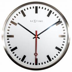 Zegar ścienny Super Station Stripe, 55 cm - NEXTIME